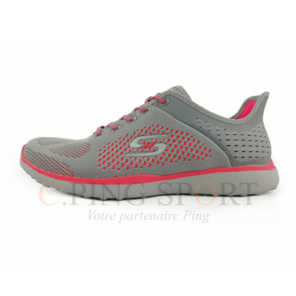 Skechers Microburst Supersonic F Gris Rose